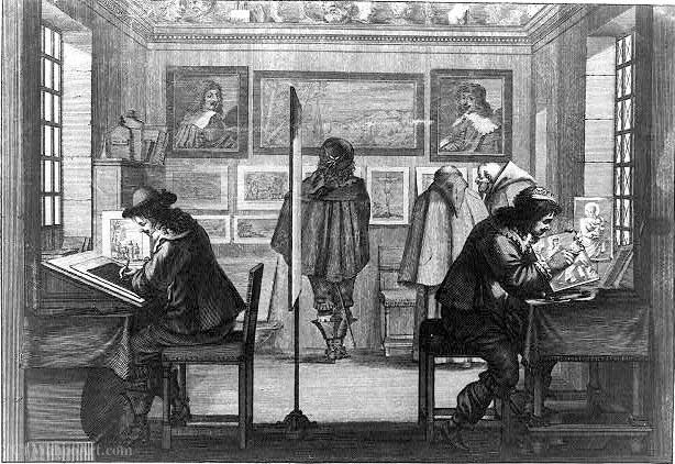 Intaglio printmakers by Abraham Bosse (1604-1676, France)