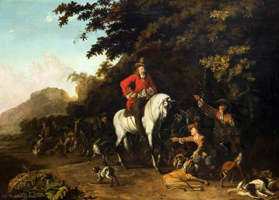 Huntsmen with Dogs by Abraham Danielsz Hondius (1631-1691, Netherlands) | ArtsDot.com