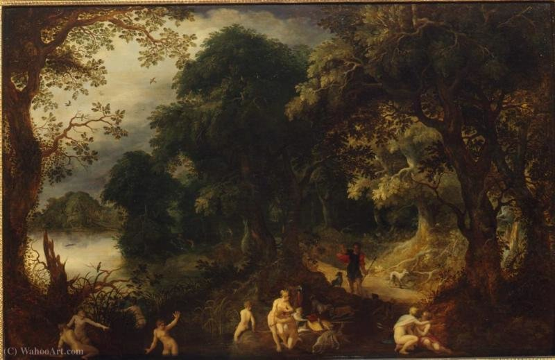 Buy Museum Art Reproductions : Diana and Actaeon by Abraham Govaerts (1589-1626, Belgium) | ArtsDot.com
