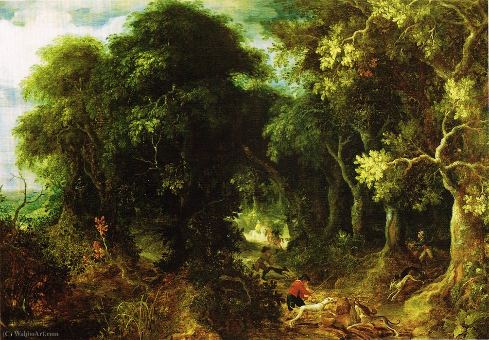 The eternal forest by Abraham Govaerts (1589-1626, Belgium)