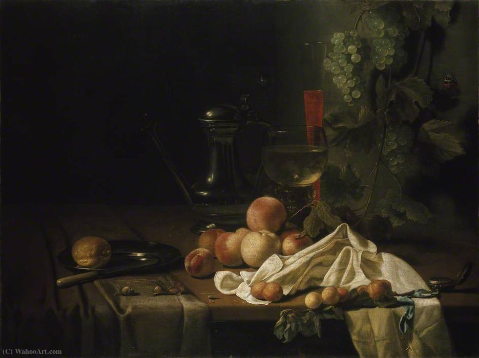 Buy Museum Art Reproductions : Still Life with Fruit by Abraham Pietersz Van Calraet (1642-1722) | ArtsDot.com
