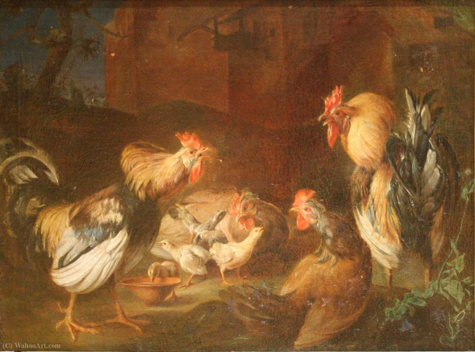 Roosters, hens and chicks by Adriaen Van Utrecht (1599-1652, Belgium) | Museum Quality Reproductions | ArtsDot.com