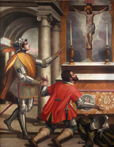 Alessandro Pieroni - St. john gualbert and the killer of his brother before the crucifix of san miniato