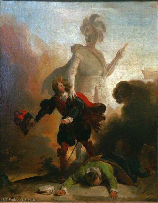 Don Juan and the statue of the Commander by Alexandre Évariste Fragonard (1780-1850, France)