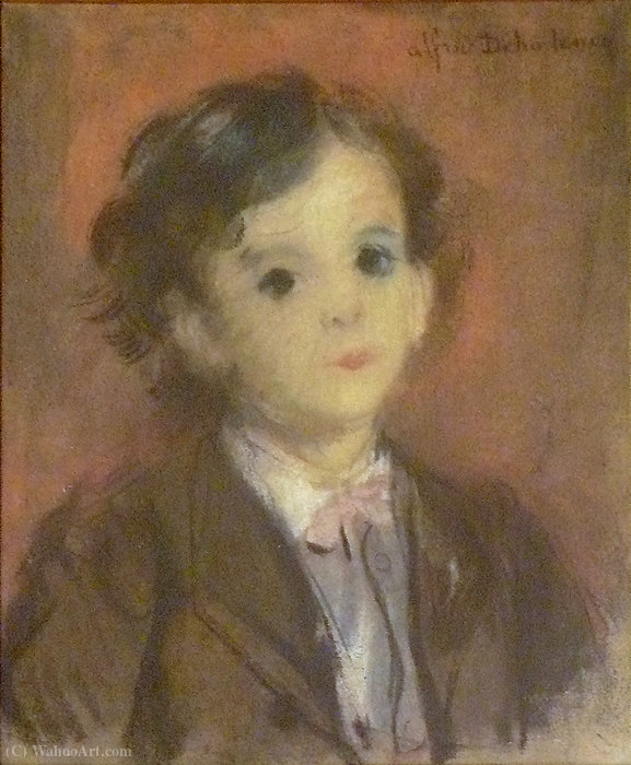 Portrait of Edmond, son of the artist by Alfred Dehodencq (1822-1882, France)