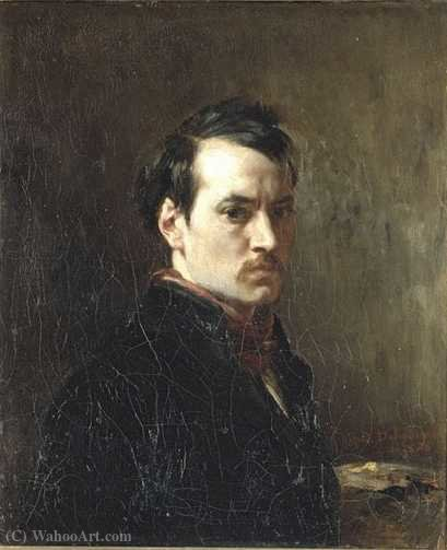Portrait of the artist. by Alfred Dehodencq (1822-1882, France)
