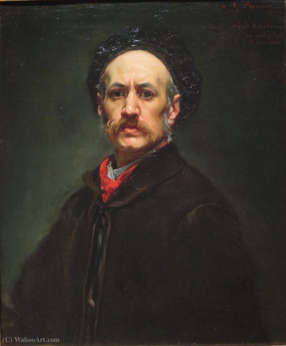 Self portrait by Alfred Dehodencq (1822-1882, France)