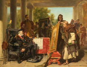 Alfred Elmore - Charles V at the Monastery of Yuste