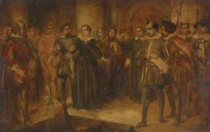 Alfred Elmore - Execution of Mary Queen of Scots