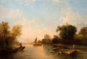 Alfred Montague - Eton College from the Riv..