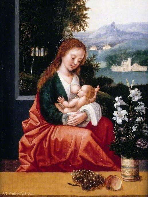 Order Art Reproduction : The Virgin and Child by Ambrosius Benson (1500-1550, Italy) | ArtsDot.com