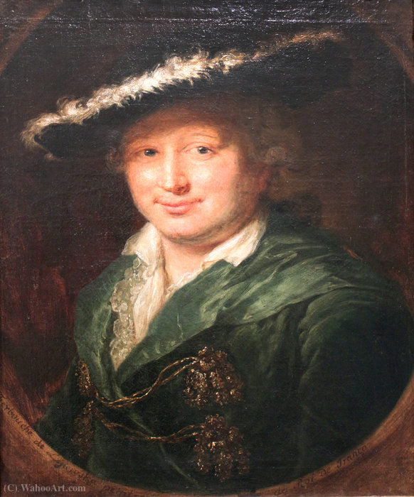 Portrait of the Innkeeper Ernst Friedrich Therbusch, Husband of the Artist by Anna Dorothea Therbusch (1721-1782, Germany) | Art Reproduction | ArtsDot.com