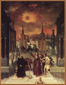 Antoine Caron - Astronomers Studying an Eclips..
