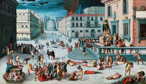 Antoine Caron - The Massacre of the Triumvirat..