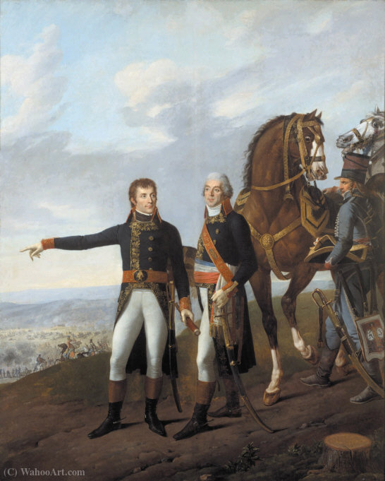 General Bonaparte and his chief of staff Berthier at the Battle of Marengo by Antoine Charles Horace Vernet Aka Carle Vernet (1758-1836, France)