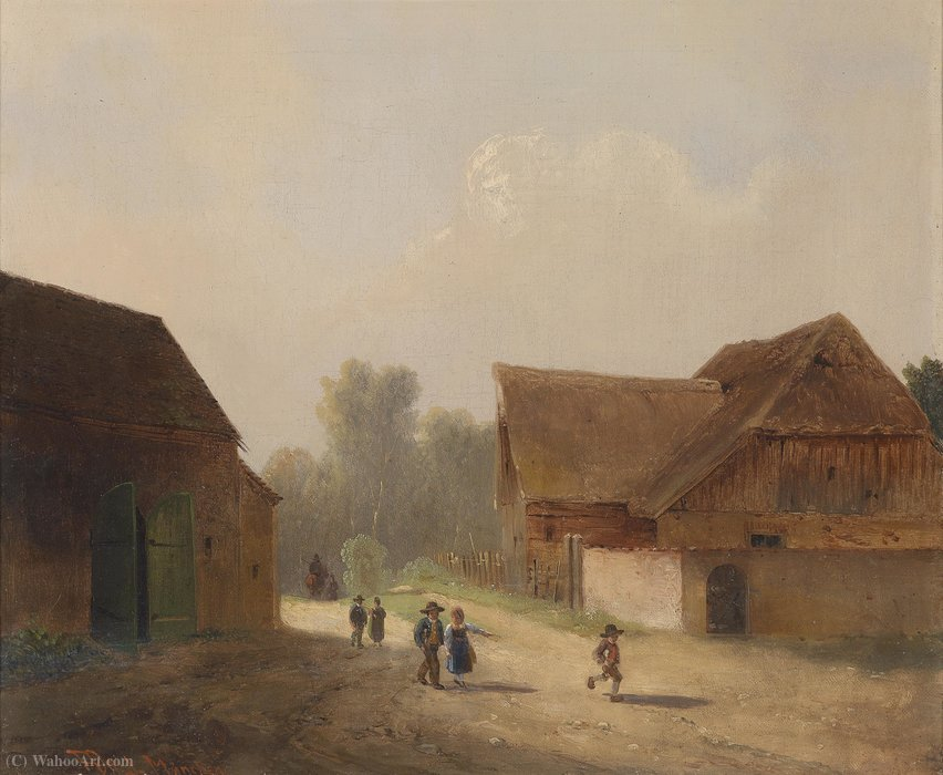 Children at home by Anton Doll (1826-1887, Germany) | Museum Art Reproductions | ArtsDot.com