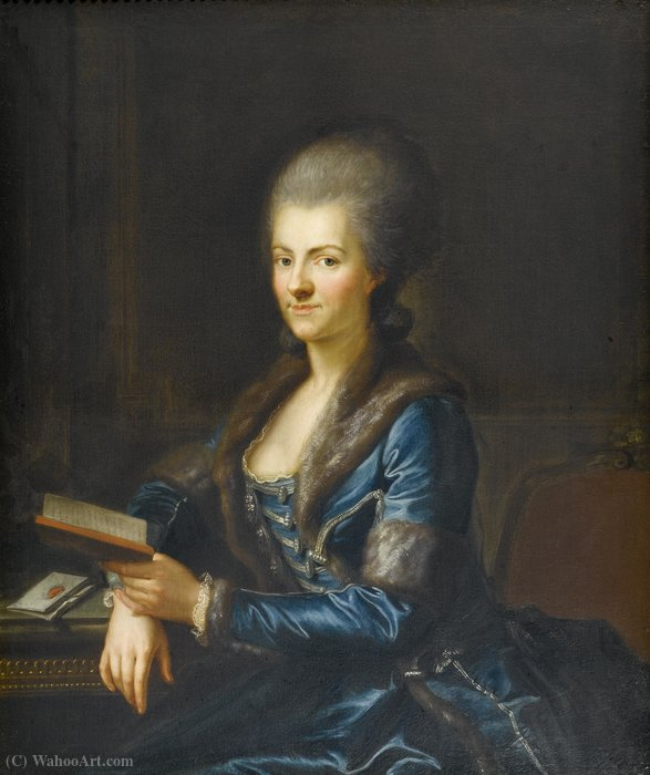 Portrait of Elisabeth Sulzer by Anton Graff (1736-1813, Switzerland) | Oil Painting | ArtsDot.com