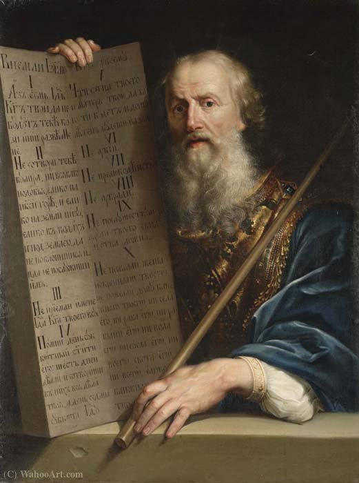 The Ten Commandments of Moses by Anton Pavlovich Losenko (1737-1773, Russia) | ArtsDot.com