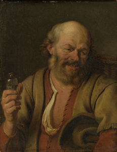 Arie De Vois - A man with a drink bottle