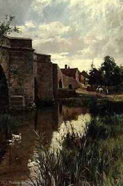 The bridge by Arthur Augustus Ii Glendening (1861-1907) | Art Reproduction | ArtsDot.com