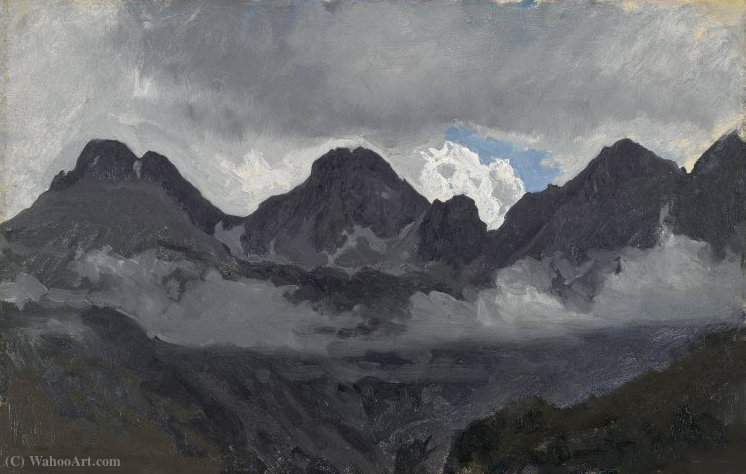 Mountains with Mist by Auguste François Bonheur (1824-1884, France) | Art Reproduction | ArtsDot.com