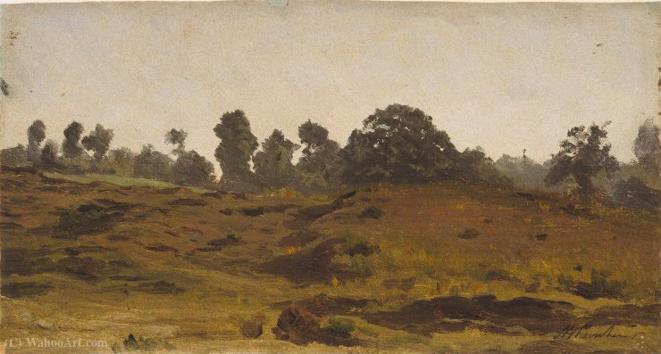 View of a Field by Auguste Bonheur (1824-1884, France)