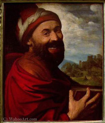 Order Art Reproduction : Democritus by Battista Dossi (1490-1548, Italy) | ArtsDot.com