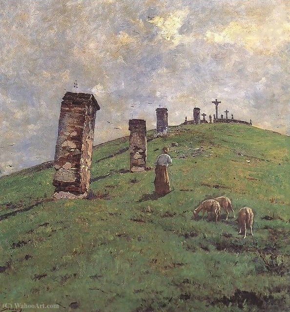 Calvary at Bodajk by Bela Spanyi (1852-1914)