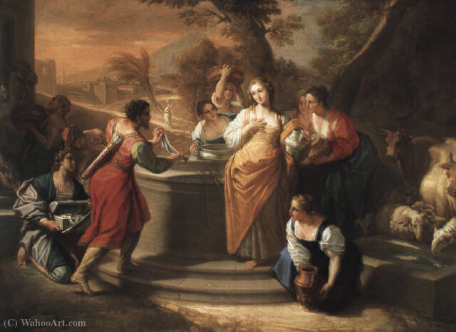 Rebecca at the well by Benedetto Luti (1666-1724, Italy) | Oil Painting | ArtsDot.com