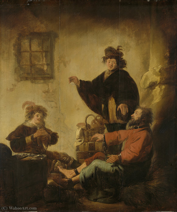 Joseph, the baker and butler their dreams by Benjamin Gerritsz Cuyp (1612-1652, Netherlands) | Oil Painting | ArtsDot.com