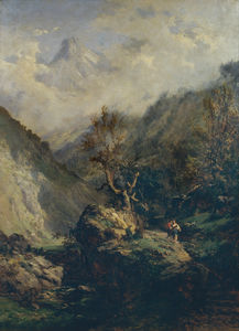 Carlos De Haes - Mountains in Asturias