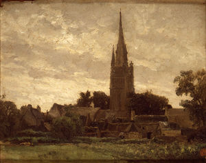 Carlos De Haes - The church tower