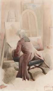 Charles Bargue - An artist in his studio