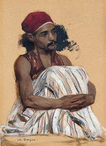 Charles Bargue - Study of an Arnaut