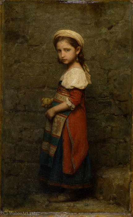 talian Girl (after (1862)) by Charles François Jalabert (1819-1901, France)