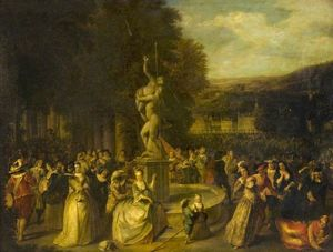 Christian Wilhelm Ernst D.. - A Festive Gathering in a ..