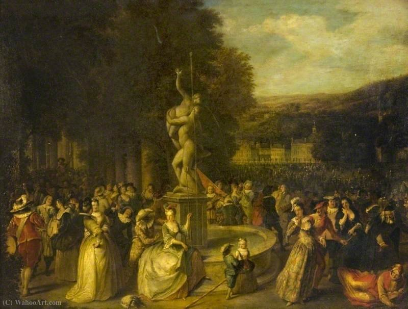 A Festive Gathering in a Park by Christian Wilhelm Ernst Dietrich Dietrich (1712-1774) | Museum Quality Reproductions | ArtsDot.com