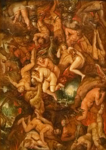Cornelis De Baellieur - The damned being cast into hell