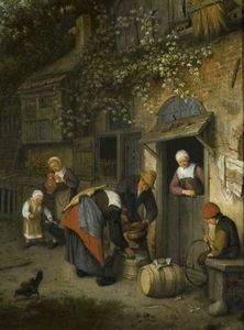 Cornelis Dusart - The milk seller
