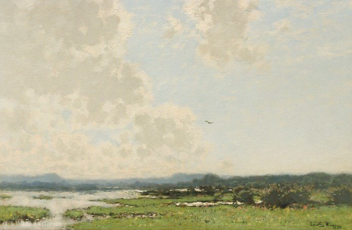 Extensive landscape by Cornelis Kuypers (1864-1932, Netherlands) | Oil Painting | ArtsDot.com