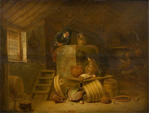 Cornelis Saftleven (Cornelis Z.. - The kitchen