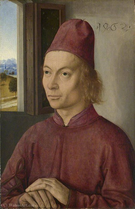 Portrait of a Man by Dieric The Younger Bouts (1448-1491, Belgium)