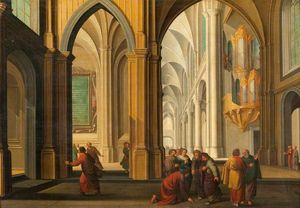Dirck Van Delen - Christ and the Woman Taken in ..