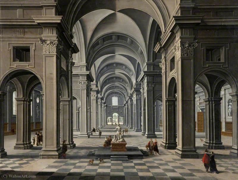 Interior of a Renaissance Church by Dirck Van Delen (1605-1671, Netherlands)