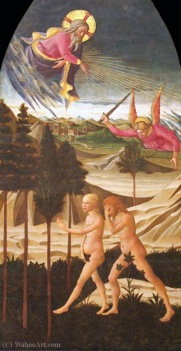 Expulsion from Paradise by Domenico Di Michelino (1417-1491, Italy) | ArtsDot.com