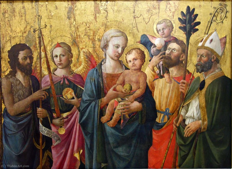 Madonna and Saints by Domenico Di Michelino (1417-1491, Italy) | Museum Art Reproductions | ArtsDot.com