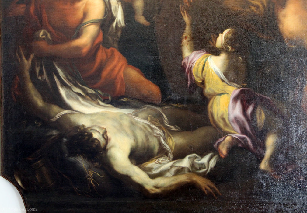 miracle of Blessed Savior from Horta, genoa by Domenico Piola (1627-1703, Italy) | ArtsDot.com