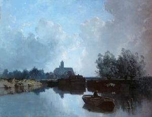 Eugène Cicéri - At the edge of the Loing Museu..
