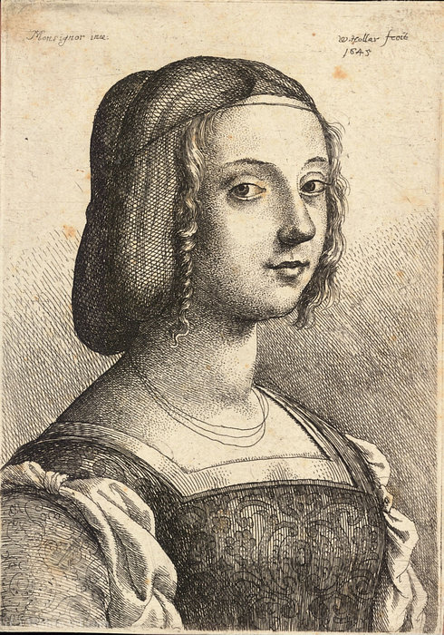 Order Oil Painting Young woman, after Bonsignori. by Francesco Bonsignori (1460-1519, Italy) | ArtsDot.com | Order Hand Painted Oil Painting Young woman, after Bonsignori. by Francesco Bonsignori (1460-1519, Italy) | ArtsDot.com