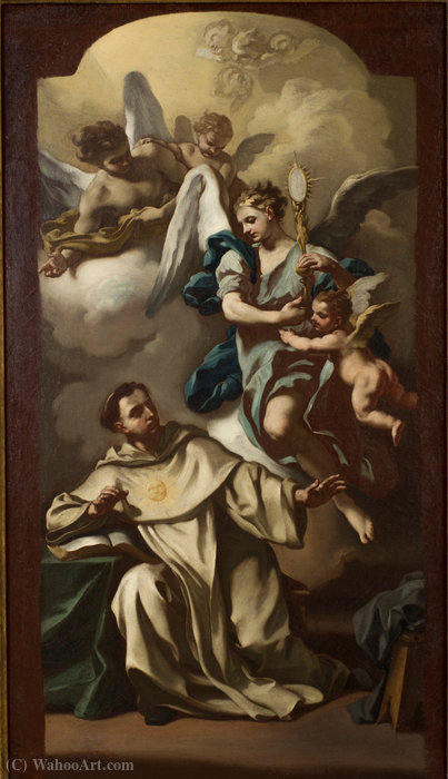 Apparition of the Host to Saint Thomas Aquinas by Francesco De Mura (1696-1782, Italy) | ArtsDot.com